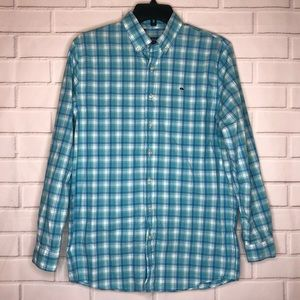 Vineyard Vines Blue Plaid Button Down Whale Shirt